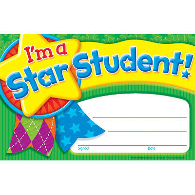 teacher certificates for children i m a star student praise