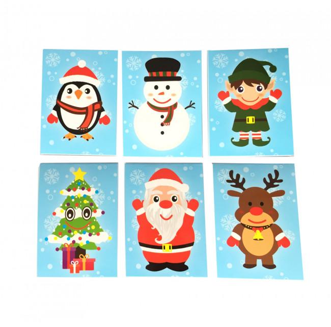 Cute Christmas.Christmas Buddies Notepads X 12