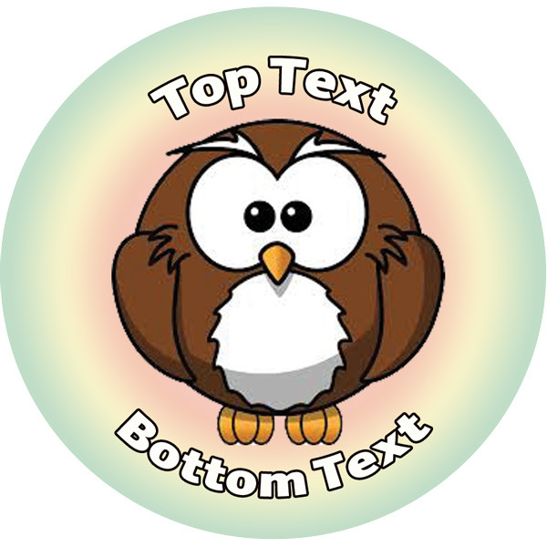 Personalised school stickers owl star design custom standard and scented stickers