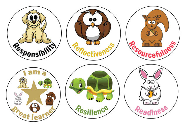 school stickers the 5 rs for lifelong learning character stickers