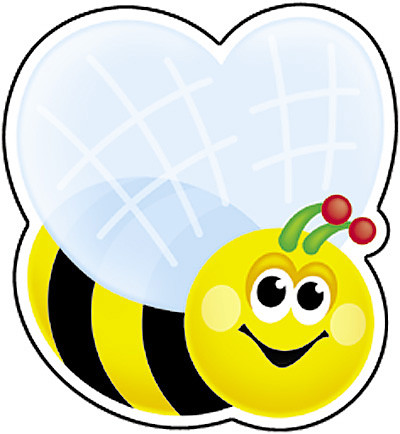 Cut Out Cards 36 Busy Bumble Bee Small Cut Outs Free