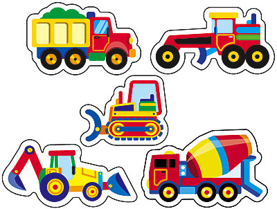 stickers for kids construction vehicles stickers free delivery uk eu