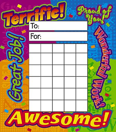 Reward Charts 36 Sheet Reward Chart Pad Praise Words