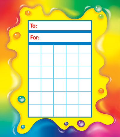 Reward Charts Bright Rainbow Gel Design  Sheet Pad Free Delivery