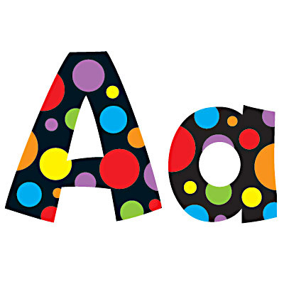 Classroom Display Resources | Neon Dots Design Letters ...