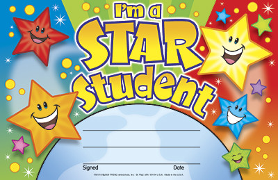School Certificates | I'm a Star Student-Free Delivery UK & EU