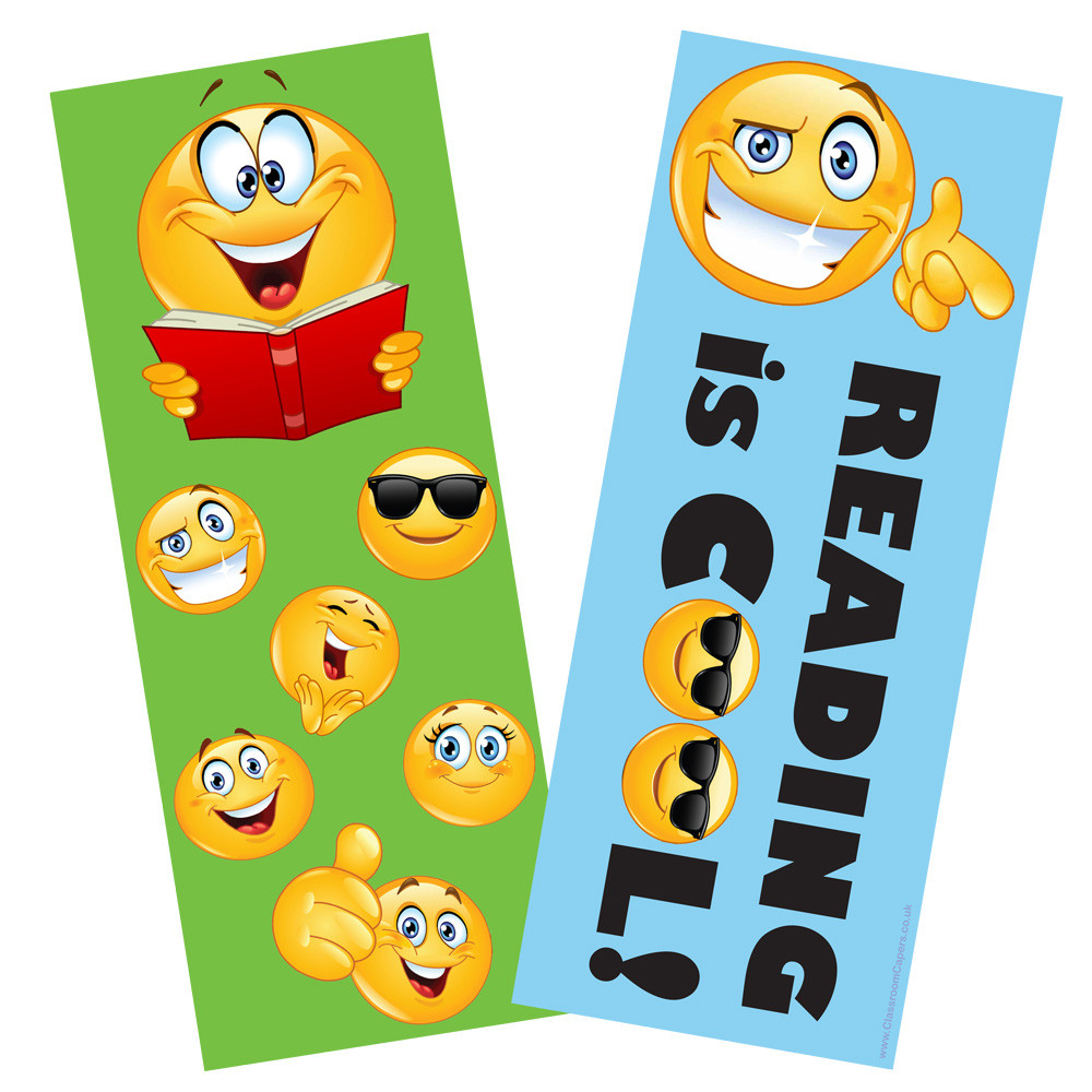 bookmarks for kids emoji reading is cool double sided bookmarks