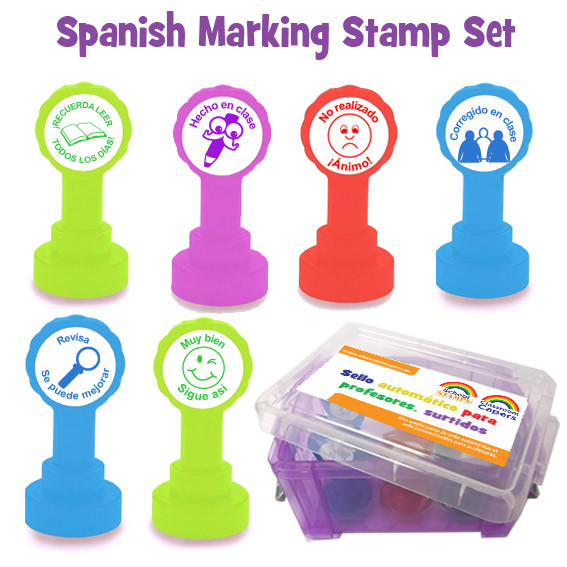 Spanish Marking Teacher Stamp Box Set