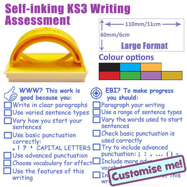 Teacher stamp writing assessment stamp ks3 6x11cm stamper free duckies backorder fulfilment plus balance of pencils not delivered spiritdancerdesigns Images