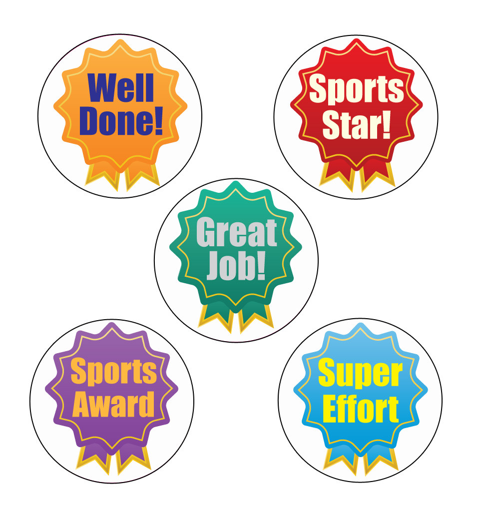 School stickers rosette participant sports stickers free delivery