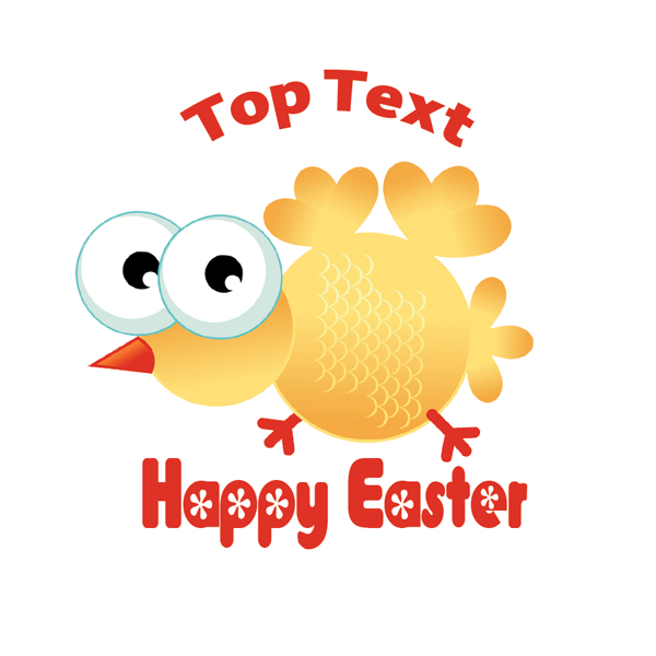 Personalised stickers for teachers crazy chick easter sticker customise with your message or name