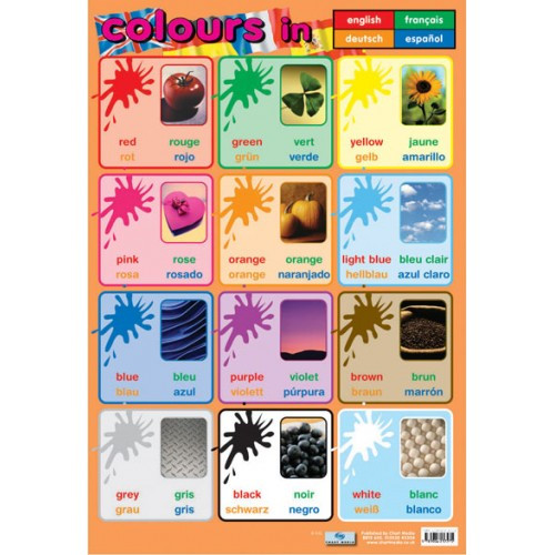 Modern Languages Classroom Posters ~ School posters learn colours in languages reference