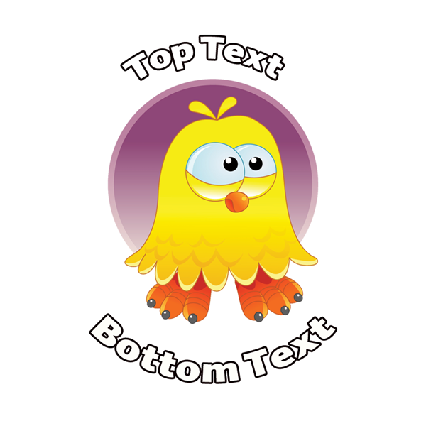 Personalised stickers for teachers cool dude chick easter sticker customise with your message or