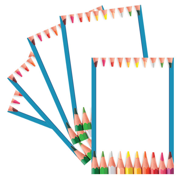 A4 Paper Pencil Crayon Design Computer And Writing Paper Free