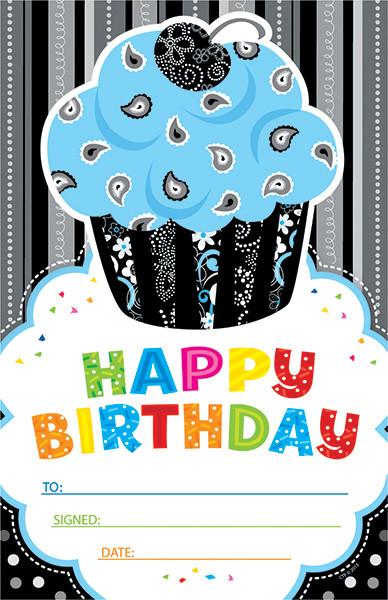 School Certificates For Children Happy Birthday Cupcake Design
