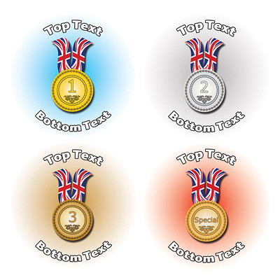 Personalised stickers for kids sports medals for school sports days
