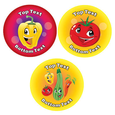 Personalised stickers for kids healthy eating cookery designs to customise for teachers