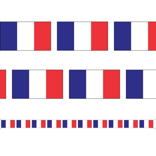 Classroom Display Borders   French Flag 12 metre Borders