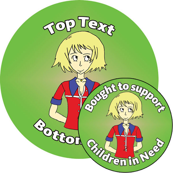 Personalised stickers for kids customise this cool manga style girl sticker to delight kids and