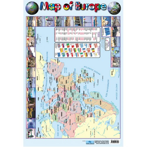 Educational Posters For Children Map Of Europe Chart