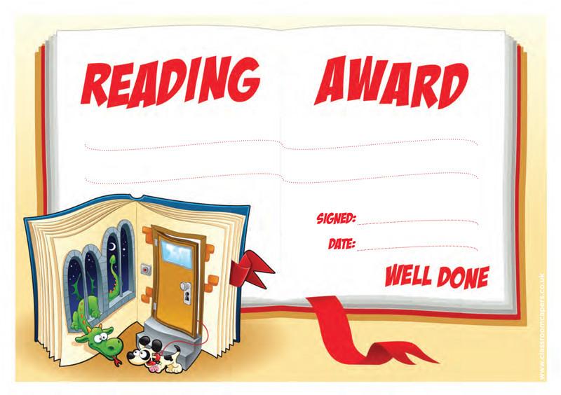 School Certificates | Reading Award, Book Design. Free ...