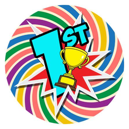 school stickers 140 rainbow spiral 1st place sports day Clip Art Crime Caper Clip Art Crime Caper
