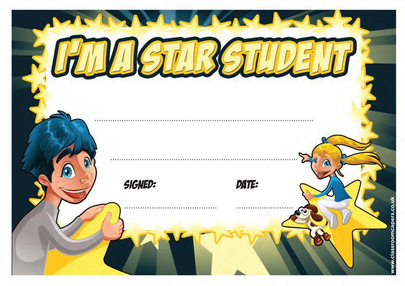 Star Student Certificates Yelomdiffusion