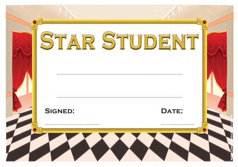 School Certificates | Student of the Week Award. Free Delivery