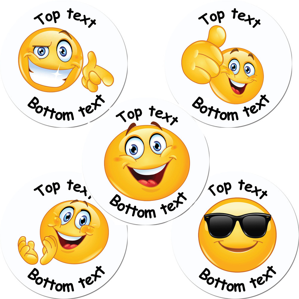 Personalised stickers emoji custom standard scented stickers free delivery