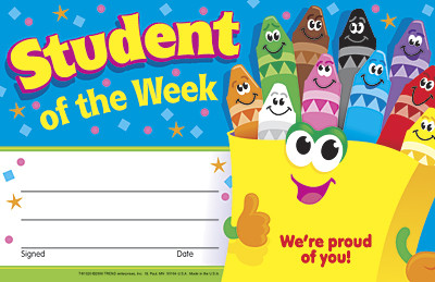 School certificates student of the week award free delivery for Student of the week certificate template free