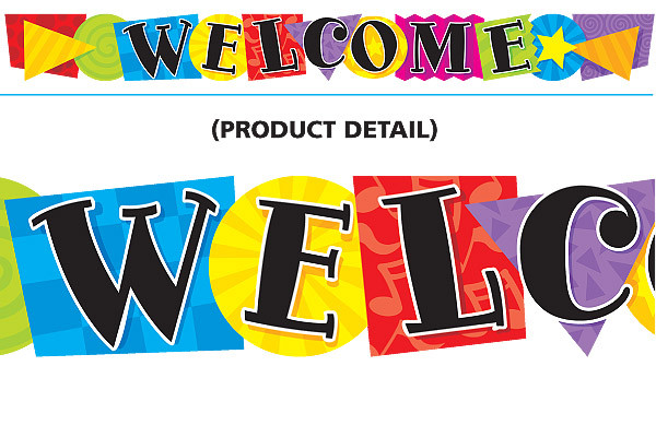 Classroom Display Banner Welcome Message Large Shaped