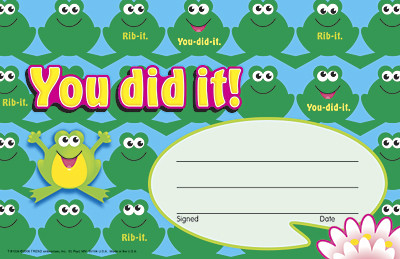 Kids Certificates | You did it !- Frogs