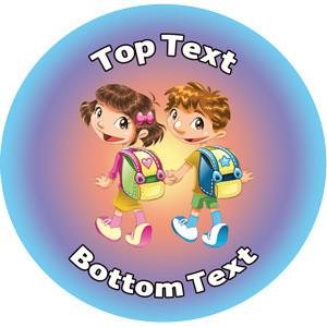 personalised kids stickers walk to school week reward sticker for