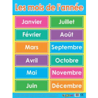 French Calendar Poster Numbers 40x60cm