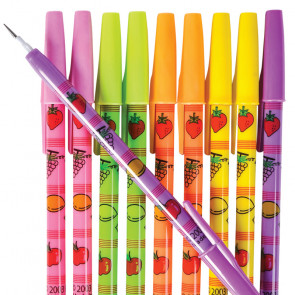10 Fruit Scented Pencil Pop a Point Pencils. Cheap Kids Class Gift