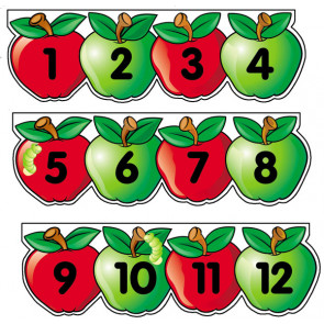 Maths Resources | Apples Design Numberline from 1 to 30