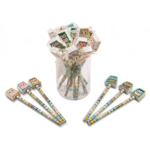 Class Gift / Pupil Presents | Cute Owl Pencils with Large Eraser Ends.