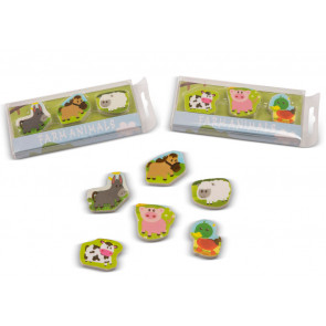Kids Erasers | Farm Animal Eraser Sets For Party Bags & Class Gifts