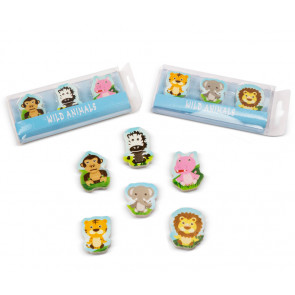 Kids Erasers | Jungle Friends Animal Eraser Sets For Party Bags & Class Gifts