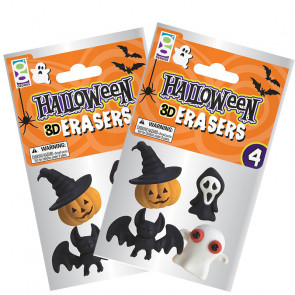 Halloween Gifts | Packs of Cool 3D Halloween Erasers