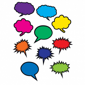 Cut Out Cards   Colourful Speech / Thought Bubble Display Cards