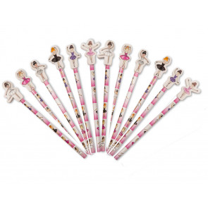 Dance Gifts | Ballet / Ballerina Pencils with Topper Erasers