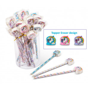 Kids Gifts | Low Cost Class Gifts / Party Bag Fillers - Unicorn Pencils with Unicorn Eraser Toppers
