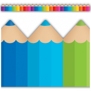 Display Borders   10.5m Colourful Art Shaped Display Border