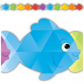 Display Borders   10.5m Colourful Fish Shaped Display Border