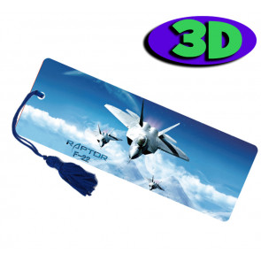 3D Bookmarks | F22 Plane Bookmark For Party Bags & Class Gifts