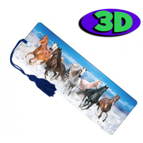 3D Bookmarks | Wild Horses Bookmark For Party Bags & Class Gifts.