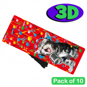 3D Bookmarks | Stunning Kitten Karaoke l Design For Party Bags & Class Gifts