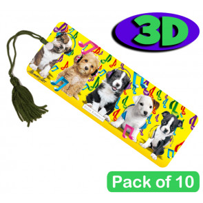 3D Bookmarks | Stunning Musical Pups Design For Party Bags & Class Gifts