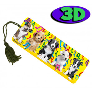 3D Bookmarks | Musical Pups Bookmark For Party Bags & Class Gifts